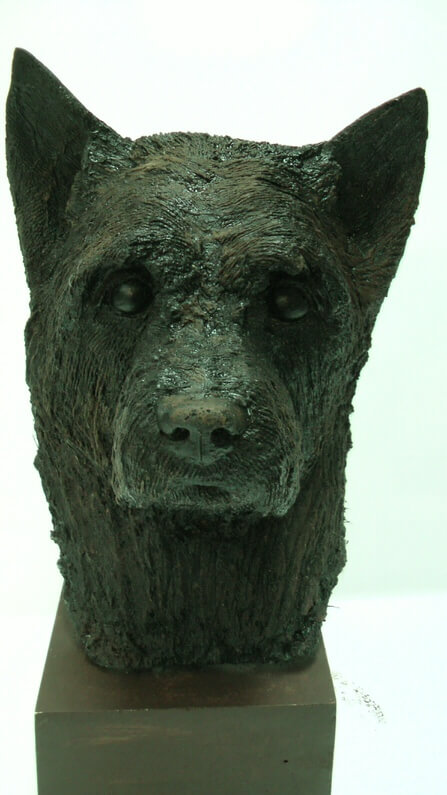 Life-size-head-of-Cairn-Terrier-Richard-Austin-sculpture