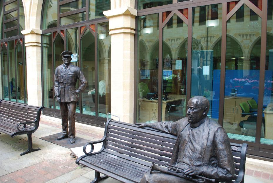 Mobbs and Arnold Richard Austin sculpture