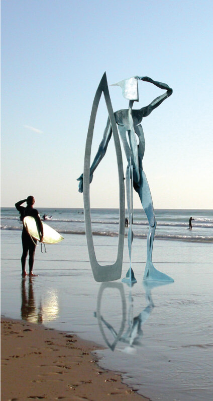 Warrior-of-the-Surf-Richard-Austin-sculpture